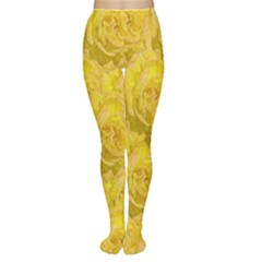 Summer Yellow Roses Dancing In The Season Women s Tights by pepitasart