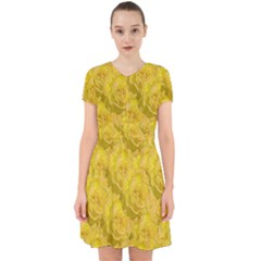 Summer Yellow Roses Dancing In The Season Adorable In Chiffon Dress