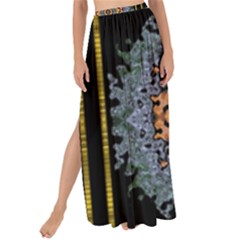 Blue Bloom Golden And Metal Maxi Chiffon Tie Up Sarong