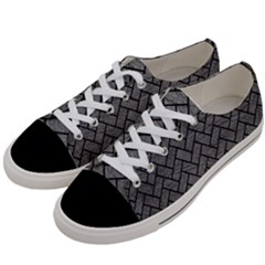 Brick2 Black Marble & Gray Leather (r) Women s Low Top Canvas Sneakers by trendistuff