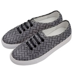 Brick2 Black Marble & Gray Leather (r) Women s Classic Low Top Sneakers by trendistuff