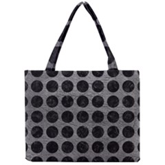 Circles1 Black Marble & Gray Leather (r) Mini Tote Bag by trendistuff