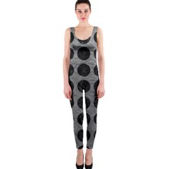 Circles1 Black Marble & Gray Leather (r) Onepiece Catsuit by trendistuff