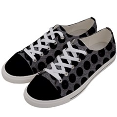 Circles1 Black Marble & Gray Leather (r) Women s Low Top Canvas Sneakers by trendistuff
