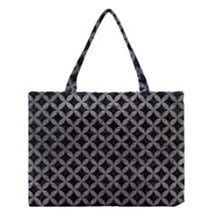 Circles3 Black Marble & Gray Leather Medium Tote Bag by trendistuff