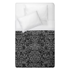 Damask2 Black Marble & Gray Leather Duvet Cover (single Size) by trendistuff