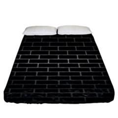 Brick1 Black Marble & Gray Metal 1 Fitted Sheet (king Size) by trendistuff