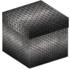 Brick1 Black Marble & Gray Metal 1 (r) Storage Stool 12   by trendistuff