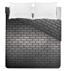Brick1 Black Marble & Gray Metal 1 (r) Duvet Cover Double Side (queen Size) by trendistuff