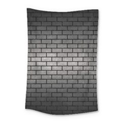 Brick1 Black Marble & Gray Metal 1 (r) Small Tapestry by trendistuff