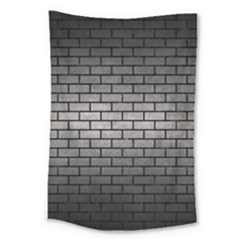 Brick1 Black Marble & Gray Metal 1 (r) Large Tapestry by trendistuff