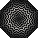 CHEVRON2 BLACK MARBLE & GRAY METAL 1 Folding Umbrellas View1