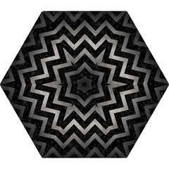 Chevron9 Black Marble & Gray Metal 1 Mini Folding Umbrellas by trendistuff