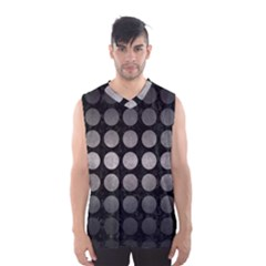 Circles1 Black Marble & Gray Metal 1 Men s Basketball Tank Top by trendistuff