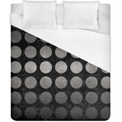 Circles1 Black Marble & Gray Metal 1 Duvet Cover (california King Size) by trendistuff