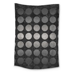 Circles1 Black Marble & Gray Metal 1 Large Tapestry by trendistuff