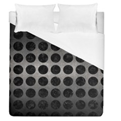 Circles1 Black Marble & Gray Metal 1 (r) Duvet Cover (queen Size) by trendistuff