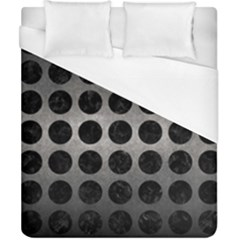 Circles1 Black Marble & Gray Metal 1 (r) Duvet Cover (california King Size) by trendistuff