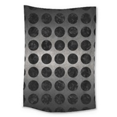 Circles1 Black Marble & Gray Metal 1 (r) Large Tapestry by trendistuff