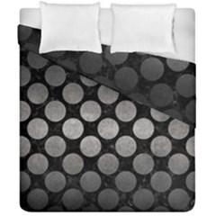 Circles2 Black Marble & Gray Metal 1 Duvet Cover Double Side (california King Size) by trendistuff