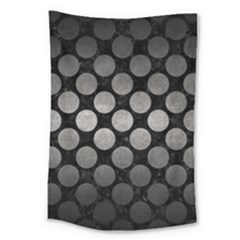 Circles2 Black Marble & Gray Metal 1 Large Tapestry by trendistuff