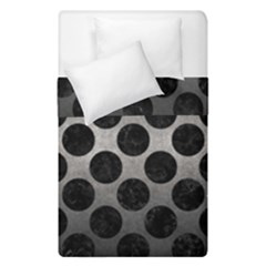 Circles2 Black Marble & Gray Metal 1 (r) Duvet Cover Double Side (single Size) by trendistuff