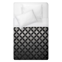 Circles3 Black Marble & Gray Metal 1 (r) Duvet Cover (single Size) by trendistuff