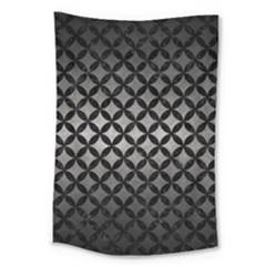Circles3 Black Marble & Gray Metal 1 (r) Large Tapestry by trendistuff