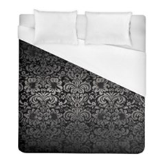 Damask2 Black Marble & Gray Metal 1 Duvet Cover (full/ Double Size) by trendistuff