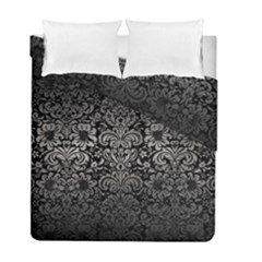 Damask2 Black Marble & Gray Metal 1 Duvet Cover Double Side (full/ Double Size) by trendistuff