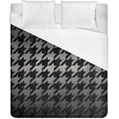 Houndstooth1 Black Marble & Gray Metal 1 Duvet Cover (california King Size) by trendistuff