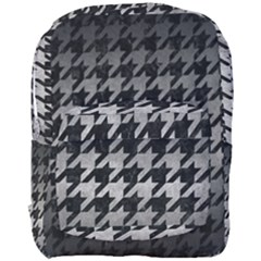 Houndstooth1 Black Marble & Gray Metal 1 Full Print Backpack by trendistuff