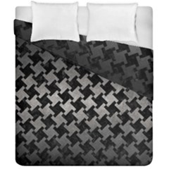 Houndstooth2 Black Marble & Gray Metal 1 Duvet Cover Double Side (california King Size) by trendistuff