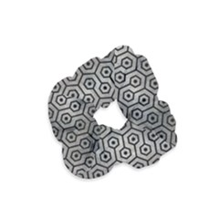 Hexagon1 Black Marble & Gray Metal 1 (r) Velvet Scrunchie by trendistuff