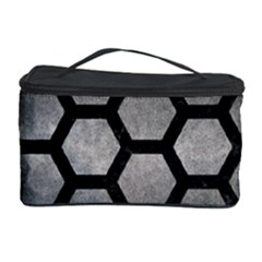 HEXAGON2 BLACK MARBLE & GRAY METAL 1 (R) Cosmetic Storage Case