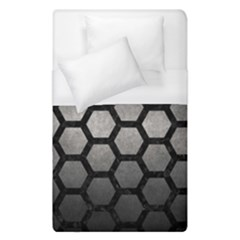 HEXAGON2 BLACK MARBLE & GRAY METAL 1 (R) Duvet Cover (Single Size)