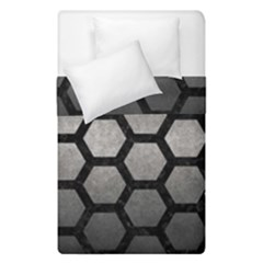 HEXAGON2 BLACK MARBLE & GRAY METAL 1 (R) Duvet Cover Double Side (Single Size)