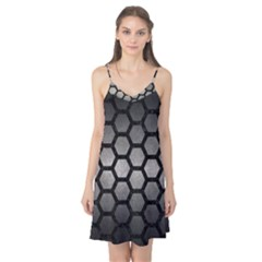 HEXAGON2 BLACK MARBLE & GRAY METAL 1 (R) Camis Nightgown