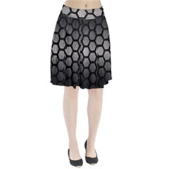 HEXAGON2 BLACK MARBLE & GRAY METAL 1 (R) Pleated Skirt