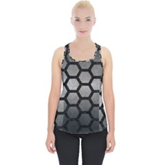 HEXAGON2 BLACK MARBLE & GRAY METAL 1 (R) Piece Up Tank Top