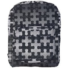 Puzzle1 Black Marble & Gray Metal 1 Full Print Backpack by trendistuff