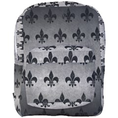 Royal1 Black Marble & Gray Metal 1 Full Print Backpack by trendistuff