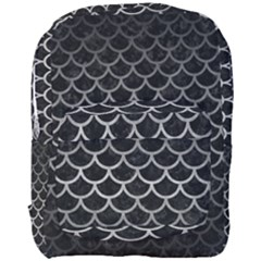 Scales1 Black Marble & Gray Metal 1 Full Print Backpack by trendistuff