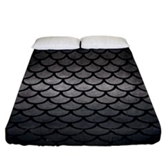 Scales1 Black Marble & Gray Metal 1 (r) Fitted Sheet (california King Size) by trendistuff