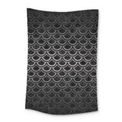 Scales2 Black Marble & Gray Metal 1 Small Tapestry by trendistuff