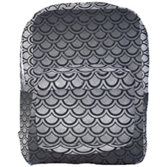 Scales2 Black Marble & Gray Metal 1 (r) Full Print Backpack by trendistuff