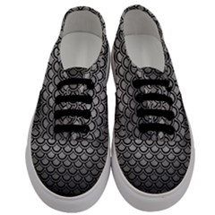 Scales2 Black Marble & Gray Metal 1 (r) Men s Classic Low Top Sneakers