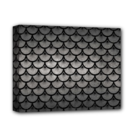 Scales3 Black Marble & Gray Metal 1 (r) Deluxe Canvas 14  X 11  by trendistuff