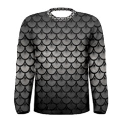 Scales3 Black Marble & Gray Metal 1 (r) Men s Long Sleeve Tee by trendistuff