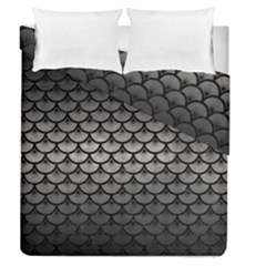 Scales3 Black Marble & Gray Metal 1 (r) Duvet Cover Double Side (queen Size) by trendistuff